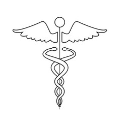 medical caduceus health care symbol vector image