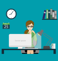 office worker or business woman working vector image