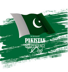 Pakistan independence day 14th august minar e vector