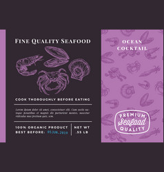 Premium quality seafood cocktail abstract vector