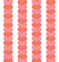 red and pink heart repeating seamless pattern vector image