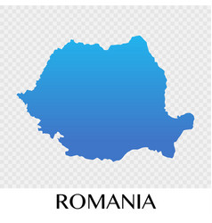 Romania map in europe continent design vector