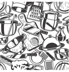 Seamless cooking background vector