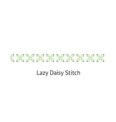 Seamless lazy daizy decorative stitch brush vector
