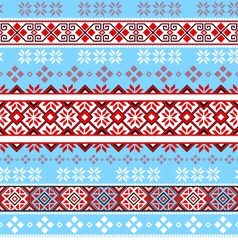 Seamless tracery Nordic pattern vector