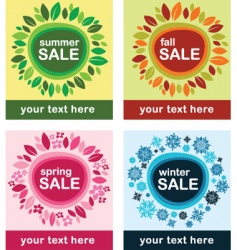 season sale vector image