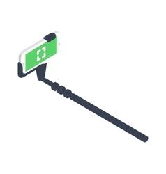 Selfie stick vector image