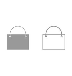 Shopping bag it is icon vector