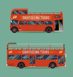 Sightseeing Tour Bus Set vector