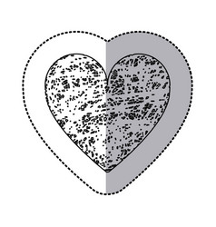sticker monochrome of icon heart hand drawn vector image
