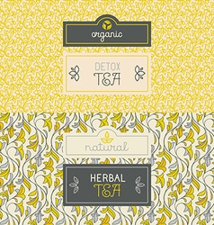 Tea packaging design elements vector image