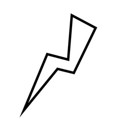 Thunder icon image vector