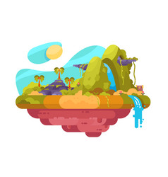 uninhabited picturesque island vector image