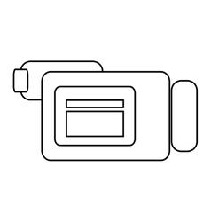 Videocamera over white vector