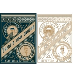 Vintage card design with gentelman detail vector