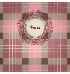 Vintage paris background vector