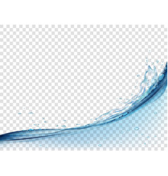 water surface and splash on transparent background vector image