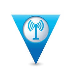 wi fi icon map pointer blue vector image