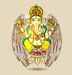 with ganesha vector image