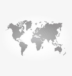 world map and whorl line vector image
