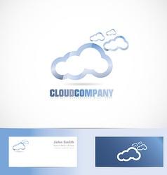 Cloud company logo vector image
