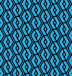 Colorful geometric overlay seamless pattern vector image vector image