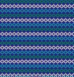 knit nordic stripe vector image