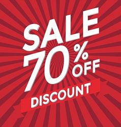 Sale 70 percent off discount vector image vector image