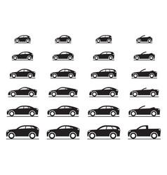 various modern cars vector image