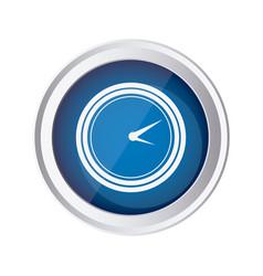 blue emblem clock icon vector image vector image
