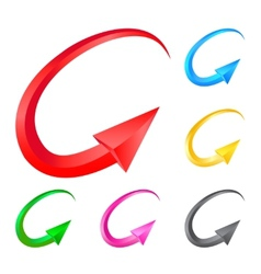 Colorful arrows for design on white background vector image vector image