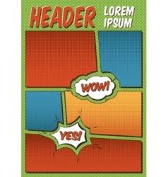 Comics Template vector image