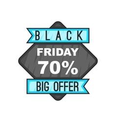 70 Black Friday sale icon cartoon style vector image