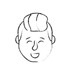 Figure avatar man head with hairstyle design vector