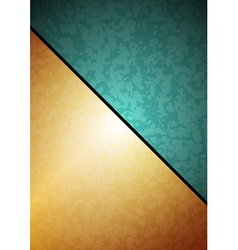 Green Golden background vector image