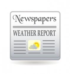 newspaper weather report vector image