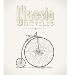 Penny-farthing bicycle vector image