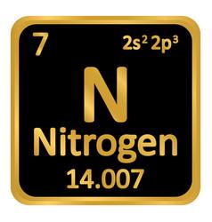 Periodic table element nitrogen icon royalty free vector periodic table element nitrogen icon vector image urtaz Choice Image