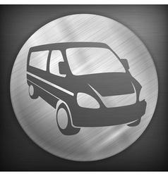 Van round sign vector image