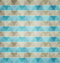 blue ornament textile with grunge effect vector image