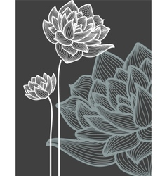 flowers over black background vector image