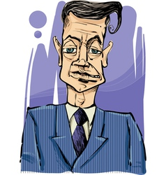 man in suit drawing vector image