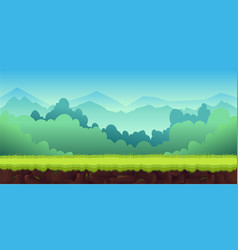 mountains landscape for ui game unending vector image