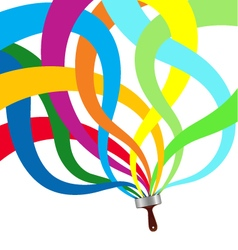 Paintbrush abstraction vector image