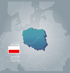 poland information map vector image vector image