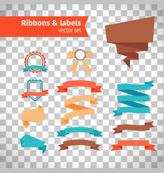 ribbons and labels in modern style vector image vector image