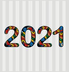 2021 happy new year vector