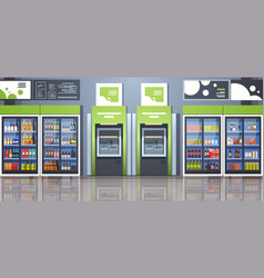 Atm cash automatic teller machine payment terminal vector