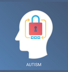 autism concept modern gradient flat style vector image