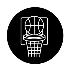 basketball play black icon sign on vector image